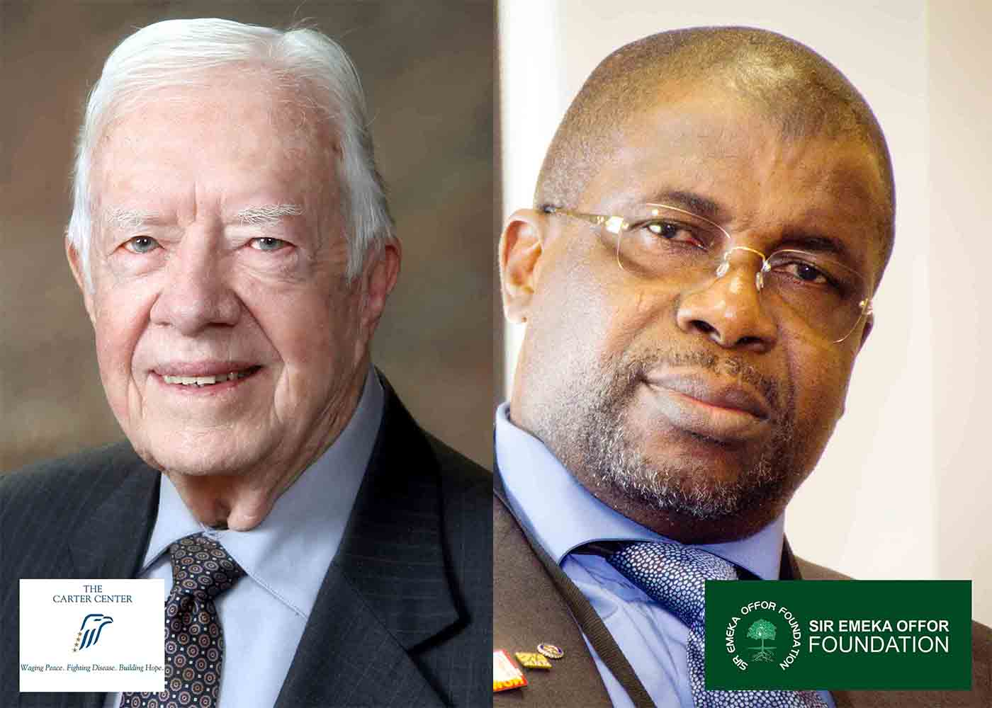 President Jimmy Carter and Sir Emeka Offor