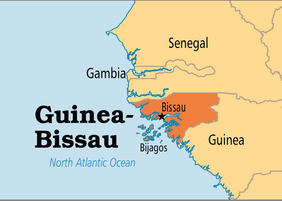 Map of Guuinea Bissau